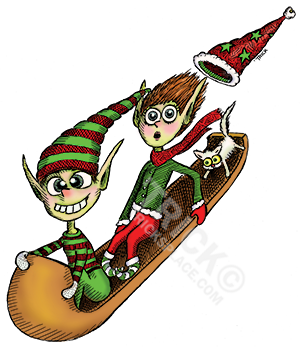 crazy elf sled ride   trick s place